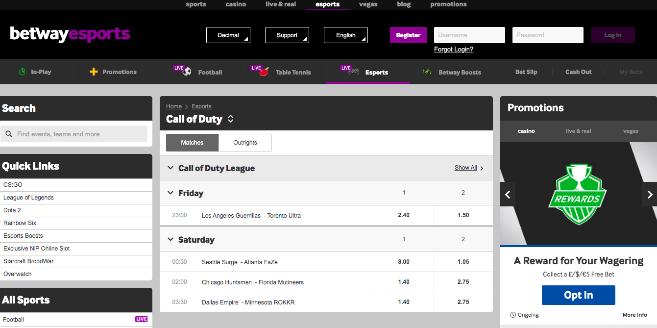 betway Call of Duty