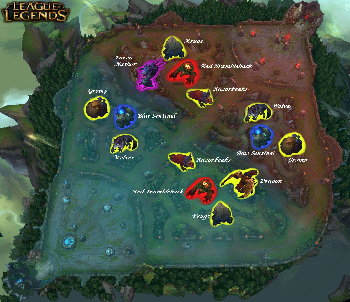 league of legends jungle map
