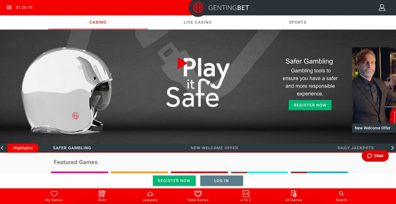 GentingBet main page