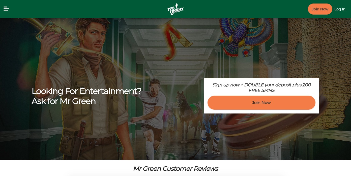 Mr Green main page
