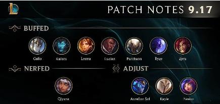 League Of Legends Patch Notes