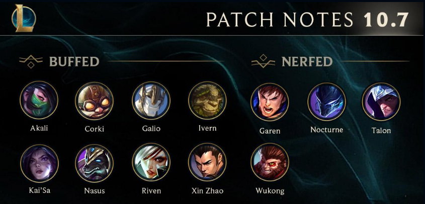 League of Legends 10.7 Patch Notes